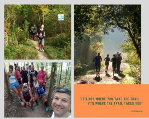 trail running and pilates